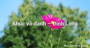 Khúc vô danh  –  Đinh Long