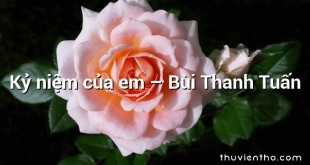 Kỷ niệm của em  –  Bùi Thanh Tuấn