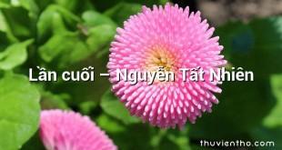 Lần cuối – Nguyễn Tất Nhiên