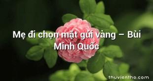 Mẹ đi chọn mặt gửi vàng  –  Bùi Minh Quốc