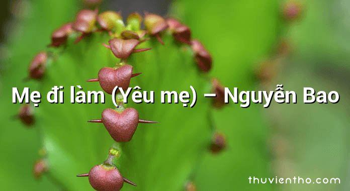 Mẹ đi làm (Yêu mẹ) – Nguyễn Bao
