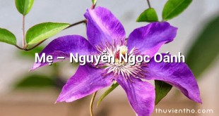 Mẹ  –  Nguyễn Ngọc Oánh