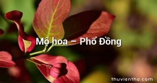 Mộ hoa  –  Phổ Đồng