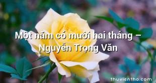 Một năm có mười hai tháng  –  Nguyễn Trọng Văn