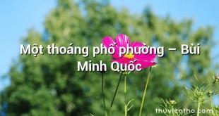 Một thoáng phố phường  –  Bùi Minh Quốc