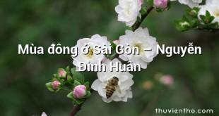 Mùa đông ở Sài Gòn – Nguyễn Đình Huân