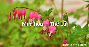 Mưa hoa – Thế Lữ