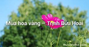 Mùa hoa vàng  –  Trịnh Bửu Hoài