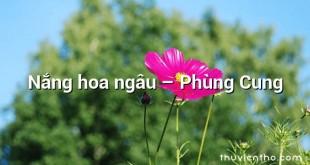 Nắng hoa ngâu  –  Phùng Cung