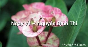 Ngày về  –  Nguyễn Đình Thi