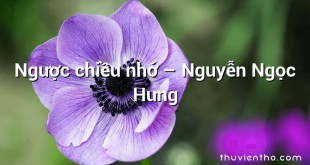 Ngược chiều nhớ  –  Nguyễn Ngọc Hưng