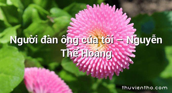 Người đàn ông của tôi – Nguyễn Thế Hoàng
