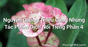 Nguyễn Quang Thiều Cùng Những Tác Phẩm Dịch Nổi Tiếng Phần 4