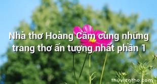 Nhà thơ Hoàng Cầm cùng những trang thơ ấn tượng nhất phần 1