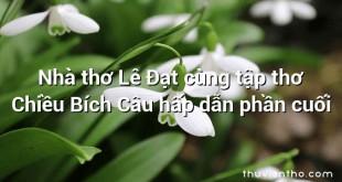 Nhà thơ Lê Đạt cùng tập thơ Chiều Bích Câu hấp dẫn phần cuối