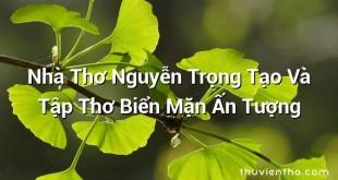 Nhà Thơ Nguyễn Trọng Tạo Và Tập Thơ Biển Mặn Ấn Tượng