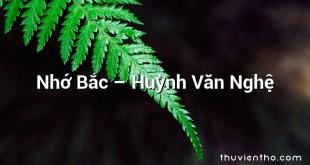 Nhớ Bắc  –  Huỳnh Văn Nghệ
