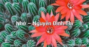 Nhớ  –  Nguyễn Đình Thi