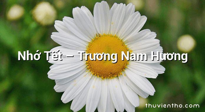 Nhớ Tết  –  Trương Nam Hương