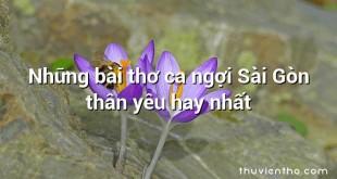 Những bài thơ ca ngợi Sài Gòn thân yêu hay nhất