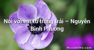 Nói với em từ trống trải  –  Nguyễn Bình Phương