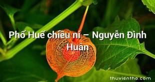 Phố Huế chiều ni – Nguyễn Đình Huân