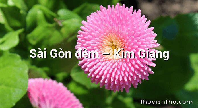 Sài Gòn đêm – Kim Giang