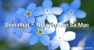 Sinh nhật  –  Nguyễn Nho Sa Mạc