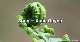 Sóng – Xuân Quỳnh