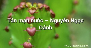 Tản mạn nước  –  Nguyễn Ngọc Oánh