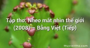 Tập thơ: Nheo mắt nhìn thế giới (2008) – Bằng Việt (Tiếp)
