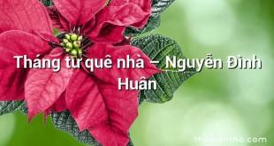 Tháng tư quê nhà – Nguyễn Đình Huân