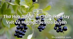 Thơ Hoa Quỳnh – Chùm Thơ Hay Viết Về Hương Sắc Hoa Quỳnh