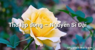 Thơ lập đông  –  Nguyễn Sĩ Đại