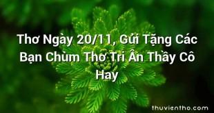 Thơ Ngày 20/11, Gửi Tặng Các Bạn Chùm Thơ Tri Ân Thầy Cô Hay