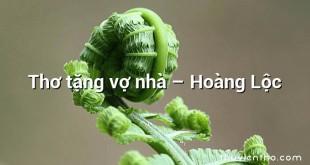 Thơ tặng vợ nhà  –  Hoàng Lộc