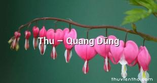Thu  –  Quang Dũng
