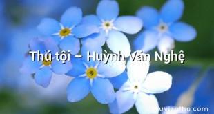 Thú tội – Huỳnh Văn Nghệ