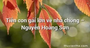 Tiễn con gái lớn về nhà chồng  –  Nguyễn Hoàng Sơn