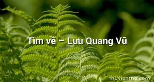 Tìm về  –  Lưu Quang Vũ