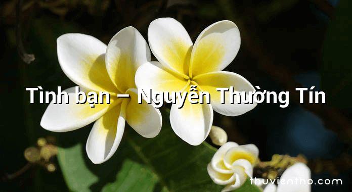 Tình bạn – Nguyễn Thường Tín