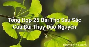 Tổng Hợp 25 Bài Thơ Sâu Sắc Của Bùi Thụy Đào Nguyên