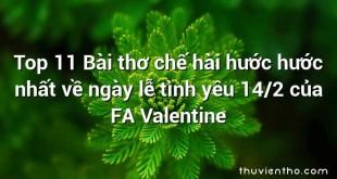 Top 11 Bài thơ chế hài hước hước nhất về ngày lễ tình yêu 14/2 của FA Valentine