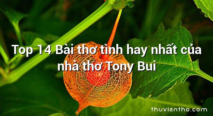 Top 14 Bài thơ tình hay nhất của nhà thơ Tony Bui