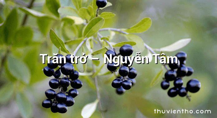 Trăn trở – Nguyễn Tâm