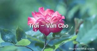 Trôi  –  Văn Cao