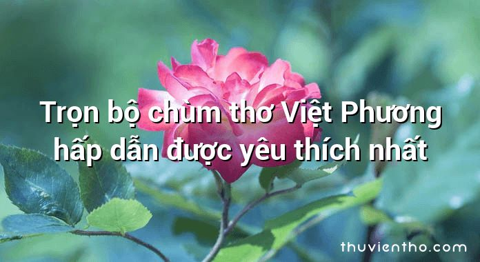 Trọn bộ chùm thơ Việt Phương hấp dẫn được yêu thích nhất