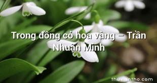 Trong đồng cỏ hoa vàng  –  Trần Nhuận Minh