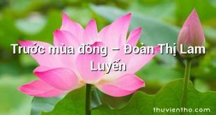 Trước mùa đông  –  Đoàn Thị Lam Luyến