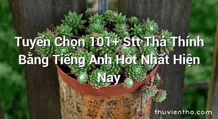 Tuyển Chọn 101+ Stt Thả Thính Bằng Tiếng Anh Hot Nhất Hiện Nay